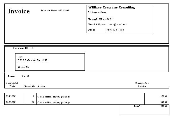 WCC Microsoft Access Relational Database Class - How to create an invoice report in access