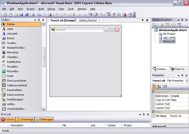 Программа Visual Basic 2005